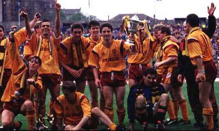 The 1991 Scottish Cup winning team