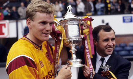 Stevie Kirk and Tommy McLean with the Scottish Cup