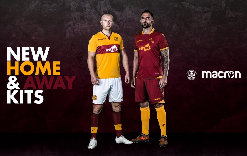 New Motherwell 2018/19 home and away kits