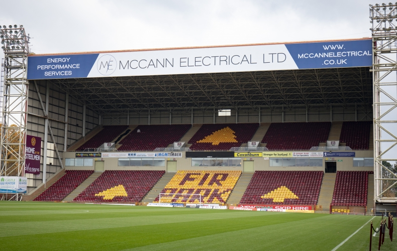 McCann Electrical sponsor south stand