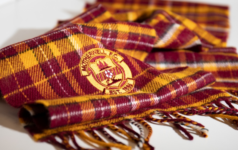 Get your limited edition Motherwell tartan scarf