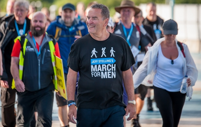 March against prostate cancer with Jeff Stelling