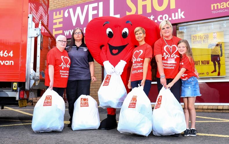 Donate items to British Heart Foundation Scotland