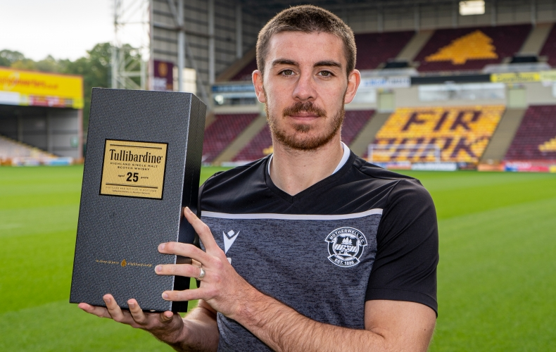 Declan Gallagher is Tullibardine player of the month
