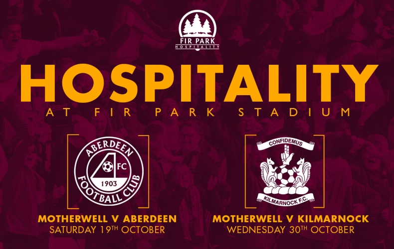 Hospitality packages for Aberdeen and Kilmarnock