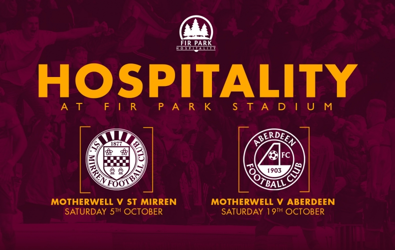 Hospitality packages for St Mirren and Aberdeen