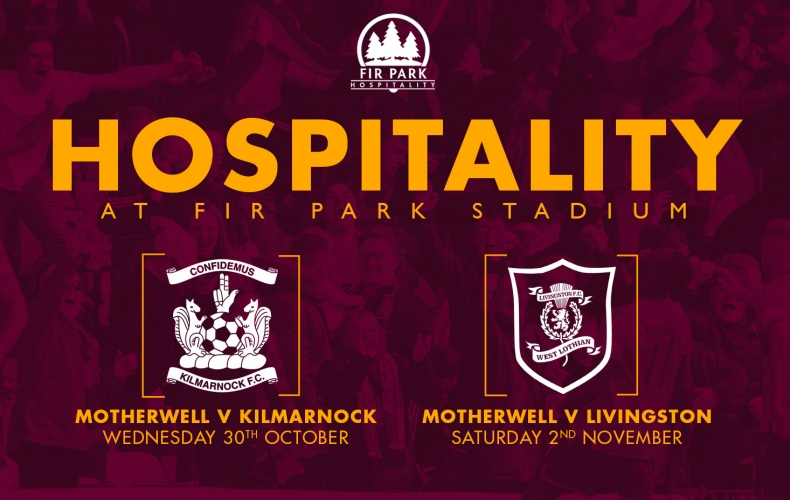 Hospitality packages for Kilmarnock and Livingston