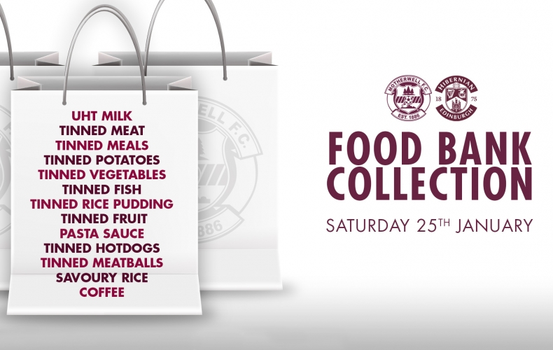 Foodbank collection on Saturday