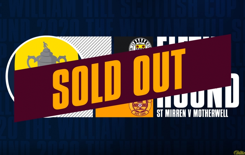 St Mirren cup tickets sold out