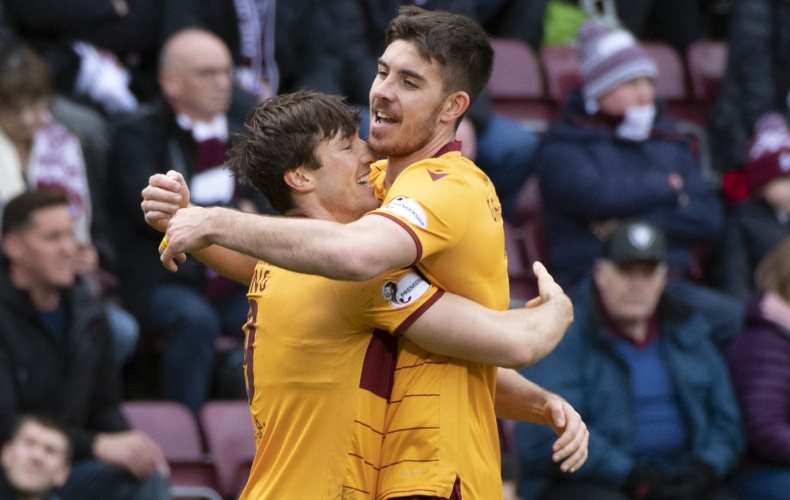 Motherwell secure top six with draw at Hearts
