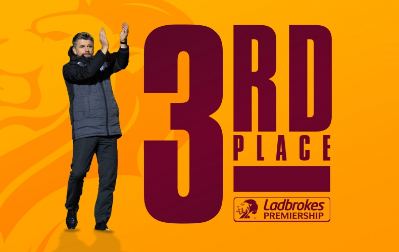 Motherwell clinch third spot in Premiership