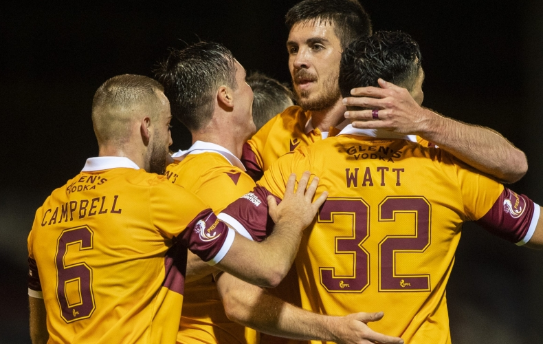 Motherwell progress with win over Glentoran
