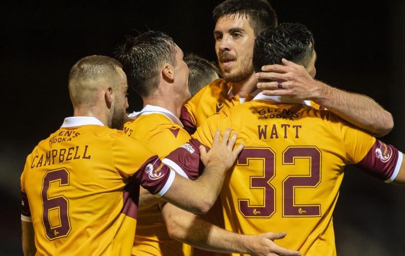Motherwell progress with win over Glentoran