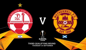Motherwell to face Hapoel Be'er Sheva