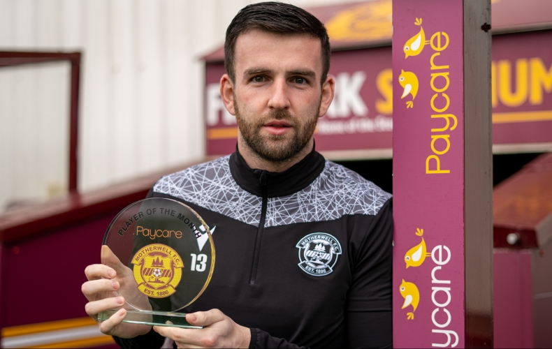 Liam Kelly is February player of the month