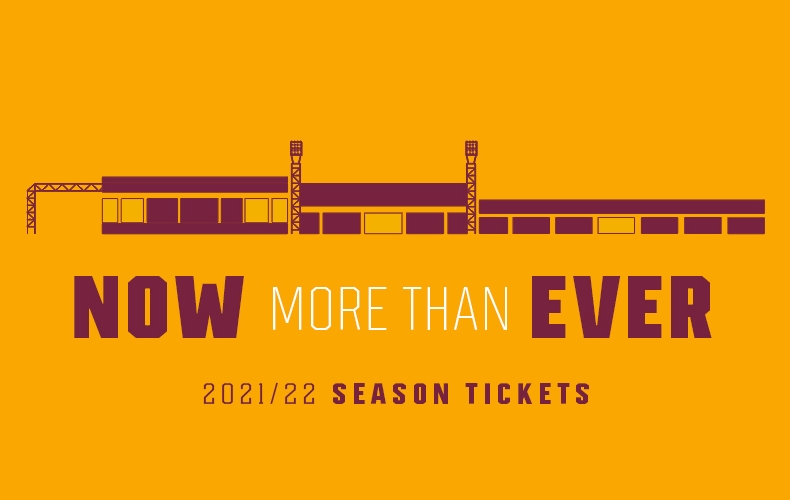 2021/22 season tickets now on sale