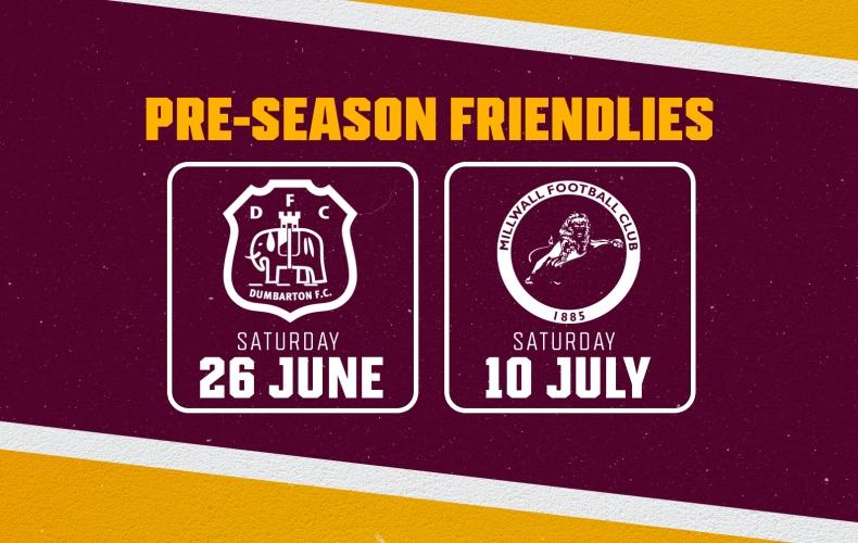 Two pre-season friendlies arranged