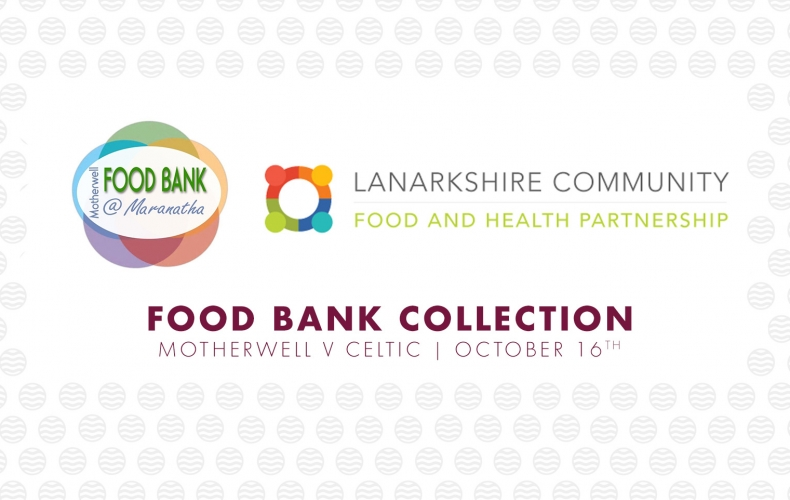 Contribute to our food bank collection at Celtic match