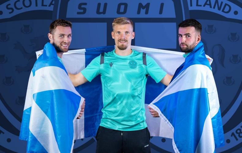 Three on international duty