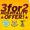Top Six Hospitality: 3 for 2 offer