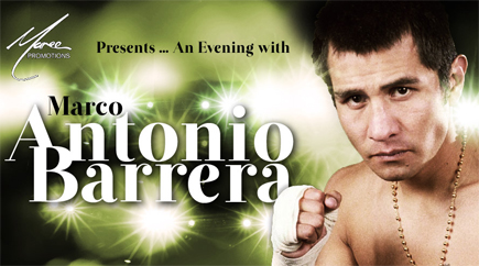 An evening with Marco Antonio Barrera