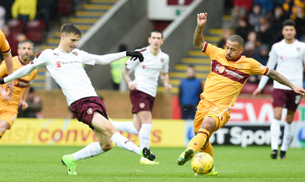Motherwell 0 – 3 Hearts