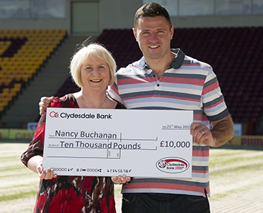 Nancy wins £10k from Clydesdale Bank